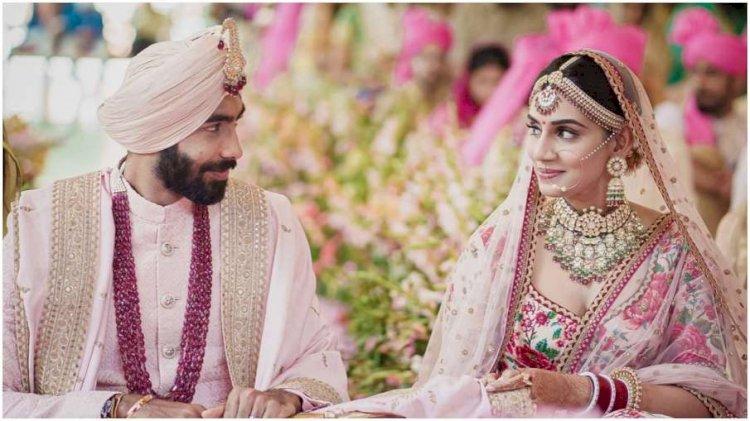 जसप्रीत बुमराह ने स्पिट्सविला 7 की  कंटेस्टेंट संजना गणेशन के संग रचाई शादी, सामने आईं  तस्वीरें